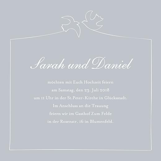 Hochzeitseinladungen Turteltauben grau - Seite 3