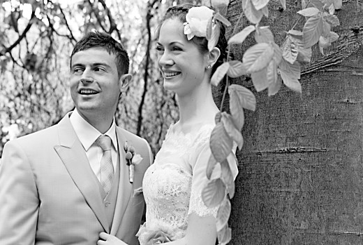 Dankeskarten Hochzeit Naturnah blau