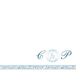 Hochzeitseinladungen blumensinfonie band blau