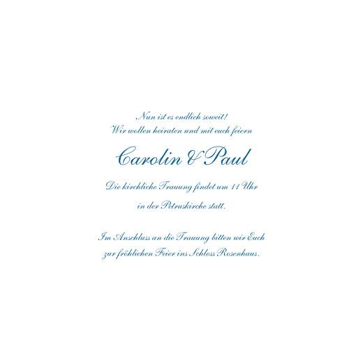 Hochzeitseinladungen Blumensinfonie band blau - Seite 3