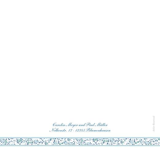 Hochzeitseinladungen Blumensinfonie band blau - Seite 4