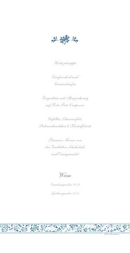 Menükarte Blumensinfonie band blau - Seite 2