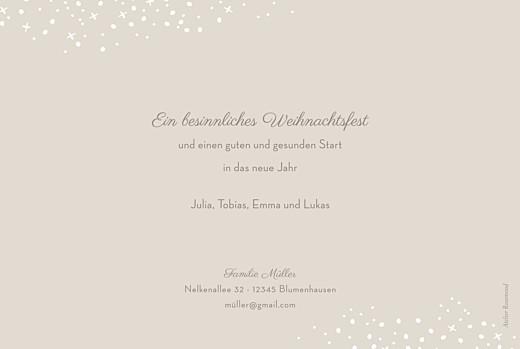 Weihnachtskarten Schneeflocke beige - Seite 2