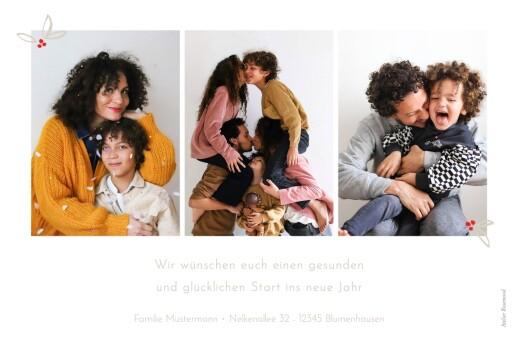 Weihnachtskarten Festtagsgruß 4 fotos weiß - Seite 2