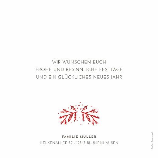 Weihnachtskarten Neujahrszauber weiß & rot - Seite 2