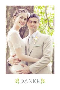 Dankeskarten Hochzeit Waldgeflüster grün