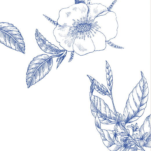 Hochzeitseinladungen Floralie blau - Seite 2