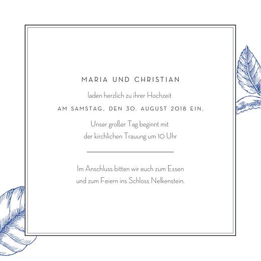 Hochzeitseinladung Floralie blau