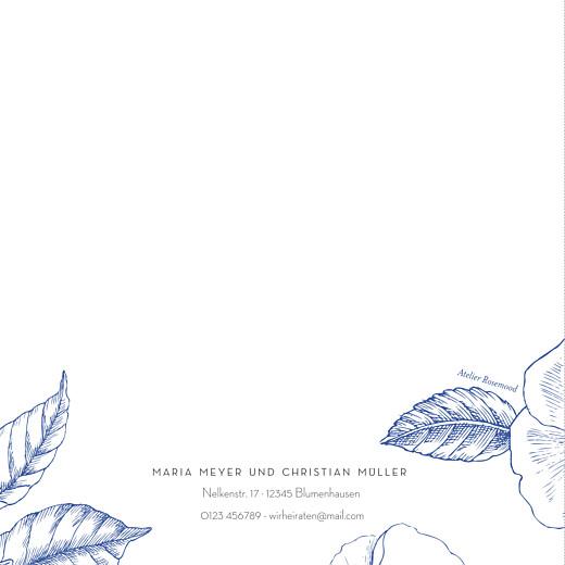 Hochzeitseinladungen Floralie blau - Seite 4