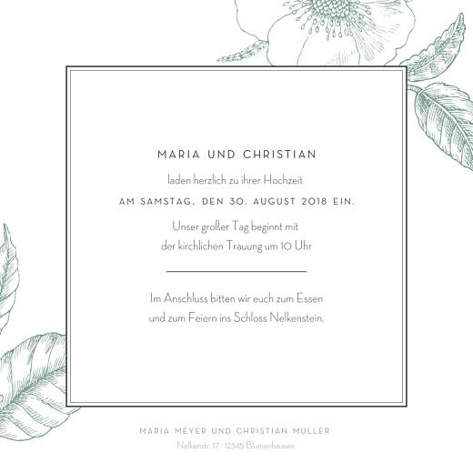Hochzeitseinladung Floralie grün