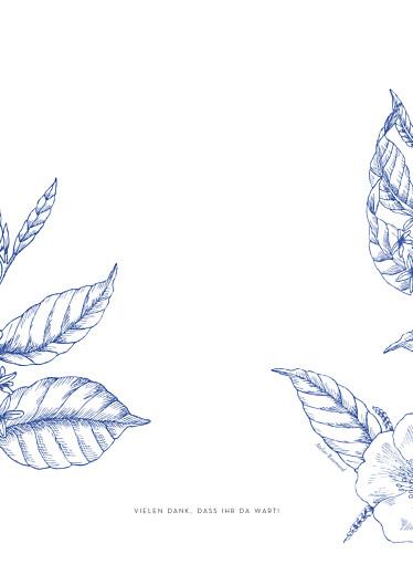 Kirchenheft Hochzeit Floralie blau - Seite 4