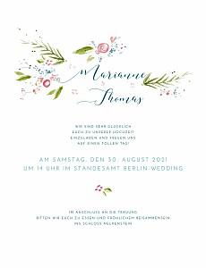 Hochzeitseinladungen frühlingshauch weiß