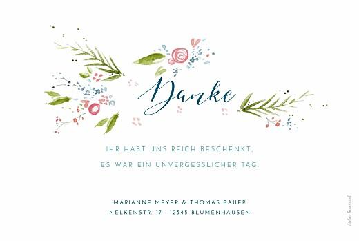 Dankeskarten Hochzeit Frühlingshauch weiß - Seite 2