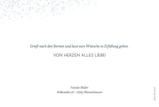 Weihnachtskarte Milchstraße blau
