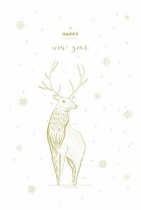 Weihnachtskarten voll im trend hirsch weiß