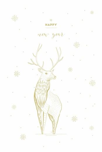 Weihnachtskarten Hirsch weiß