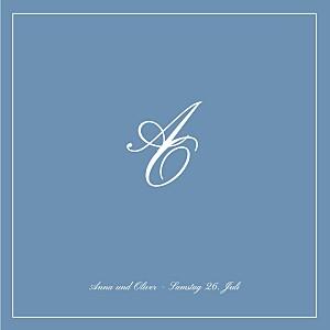 Hochzeitseinladungen chic blau