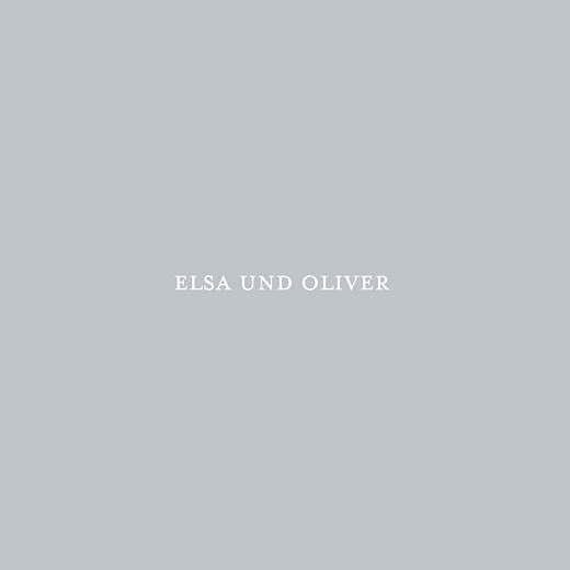 Hochzeitseinladungen Klassisch (klappkarte) grau