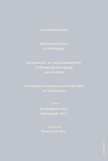 Menükarte Klassisch grau - Seite 2