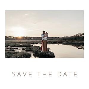 Save-the-Date Karte Chic klein weiß