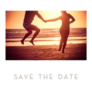 Save-the-Date Karte Chic klein weiß