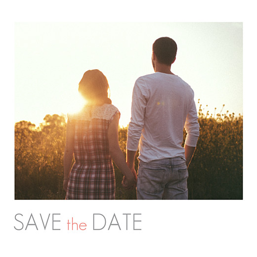 Save-the-Date Karte Stilvoll klein weiß
