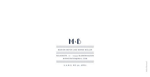 Hochzeitseinladungen Monogramm blau - Seite 4