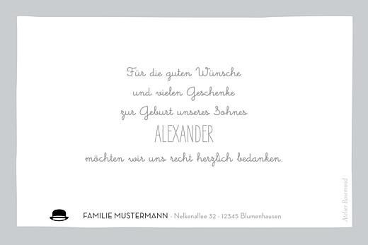Dankeskarten Gentleman grau - Seite 2