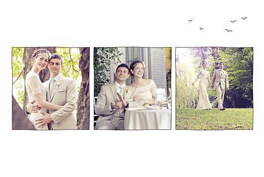 Dankeskarten Hochzeit Feldhochzeit beidseitig weiß