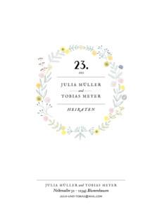 Hochzeitseinladung Blütenzauber (hoch) weiß