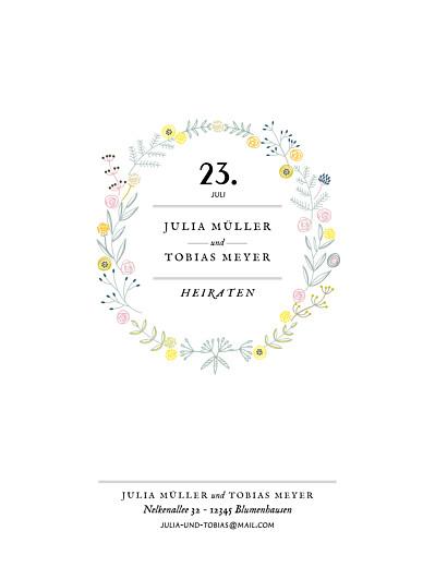 Hochzeitseinladungen Blütenzauber (hoch) weiß