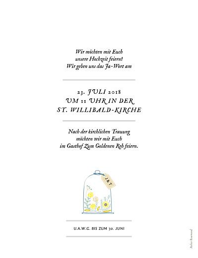 Hochzeitseinladungen Blütenzauber (hoch) weiß - Seite 2