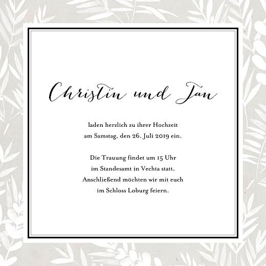 Hochzeitseinladungen Blättertraum (klappkarte) grau - Seite 3