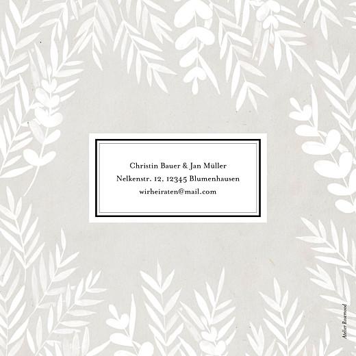 Hochzeitseinladungen Blättertraum (klappkarte) grau - Seite 4