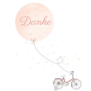 Mini Dankeskarten Familienausflug rosa