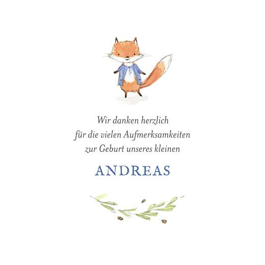 Mini Dankeskarten Fuchs Aquarell - Atelier Rosemood