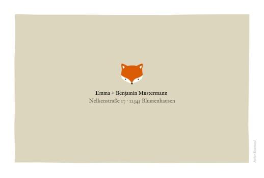 Geburtskarte Fuchs 5 fotos orange