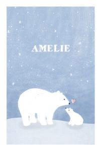 Geburtskarte Eisbär blau