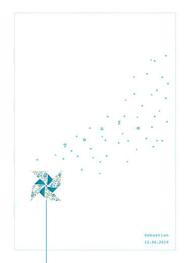 Kirchenheft Taufe Windrad blau weiß