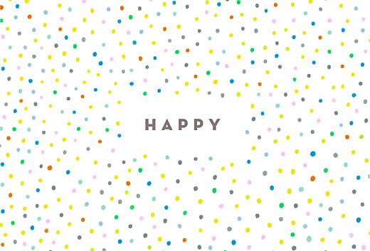 Grußkarten Happy weiß