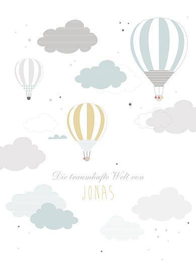 Poster groß In den wolken blau - Seite 1
