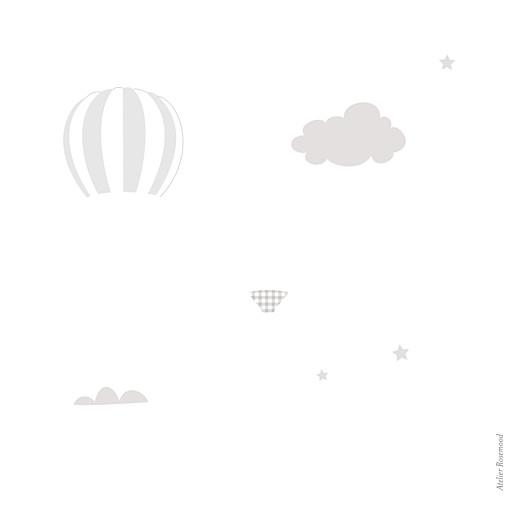Geburtskarten In den wolken (gold) grau