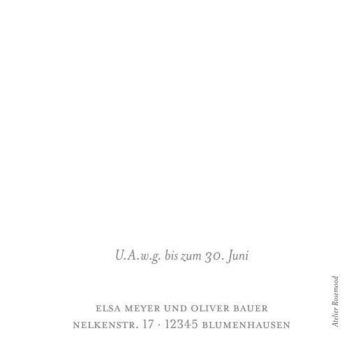 Antwortkarte Hochzeit Klassisch (quadratisch) weiß - Seite 2