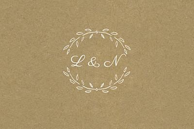 Antwortkarte Hochzeit Lyrik sand finition