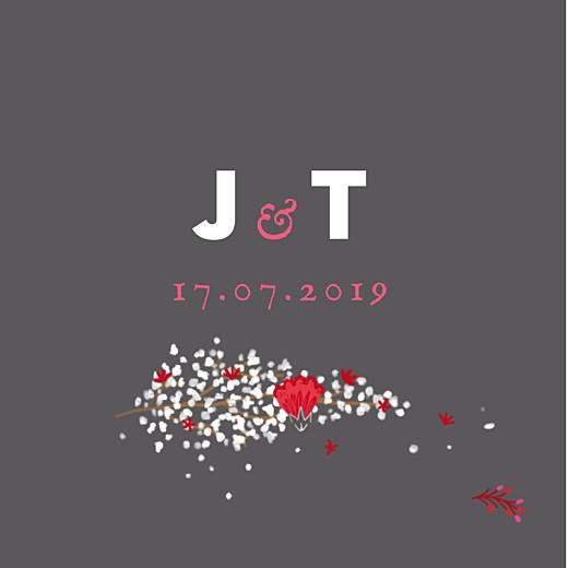 Anhänger Hochzeit Blumenkrone grau & rosa