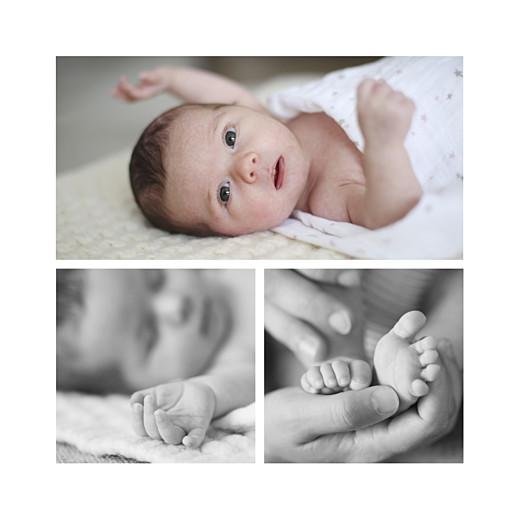 Geburtskarte Bär 3 fotos grün