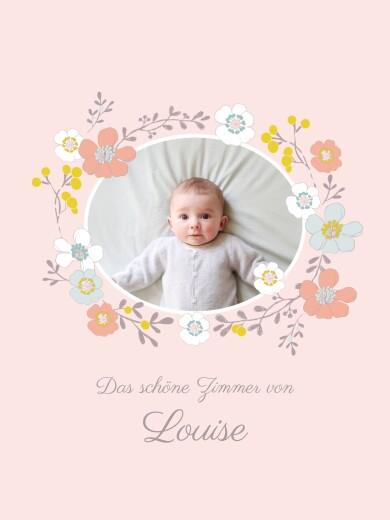 Poster groß Blumenkrone foto rosa - Seite 1