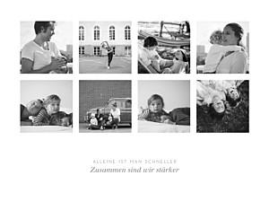 Poster klein erinnerung 8 fotos lang weiß