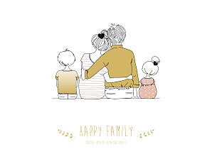 Poster groß lovely family 2 kinder mädchen