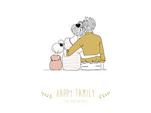 Poster groß Lovely family mädchen